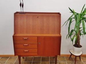 Teak, Sekretär, VKW, Vintage, Mid Century, Arbeitsplatz, Schreibtisch