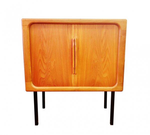 Danish Design, Phonoschrank, Kommode, Vintage, Teak, 1970, Schiebetüren