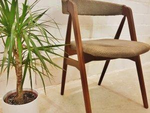 Compass Chair, Schreibtischstuhl, Kai Kristiansen, Teak, Danish Design, Vintage, 1960, 1970, grau