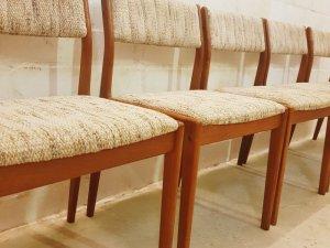 Teak, Stühle, 5er Set, Uldum, Johannes Andersen, 1970, Mid Century, Vintage, Danish Design, Dining Chairs