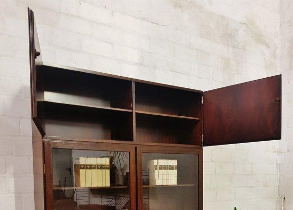 Ottoman Jun., Modell 10, Palisander, Highboard, Standregal, Bücherregal, Vitrine, Unterschrank, Aufsatz, Overkasse, Glastüren , Designklassiker, Mid Century, Danish Design, Made in Denmark