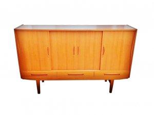 Highboard, Barschrank, Minibar, Vintage, 1960er, 1960's, Teak, Danish Design, Sweden, Schiebtüren, Sideboard
