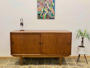 Sideboard, Teak, Borge Morgensen, Soborg Mobelfabrik, Danish Design, Vintage, Mid Century, 1950, 1960, Designklassiker, Kommode, Anrichte