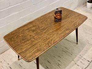 Mid Century Coffeetable, Couchtisch Nussbaum, Vintage, 1950, Nierentisch, Maserung, Design, Loft