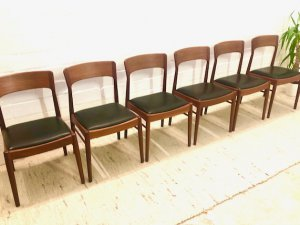 Stühle, Dining Chairs, Danish Design, Mid Century, Teak, K.S., Made in Denmark, Vintage, 1960's, 60's
