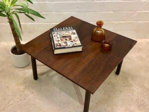 Palisander Coffeetable, Beistelltisch, 1960, 1970, Couchtisch, Maserung, Patina, flach, eckig, Danish, Mid Century Design, Vintage, Beistelltisch
